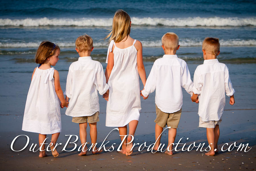Classic children family portraits with classic white and khaki